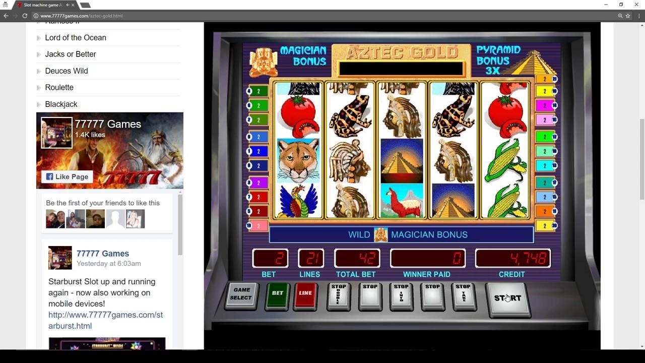 Free Slots Games Aztec Gold