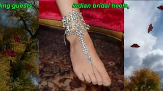 Bridal shoes comfortable high heels # top beautiful bridal shoes/sandals // stylish & uniqe designs
