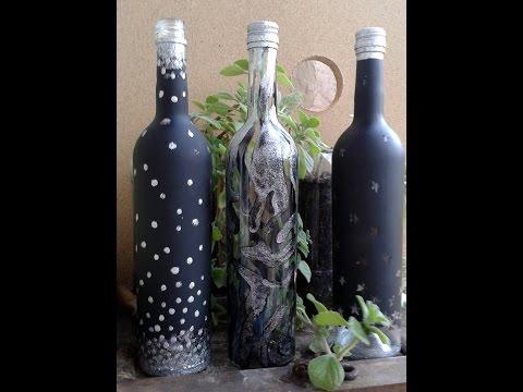 Como decorar botellas de vidrio funnycat tv - Decorar botellas de vidrio ...