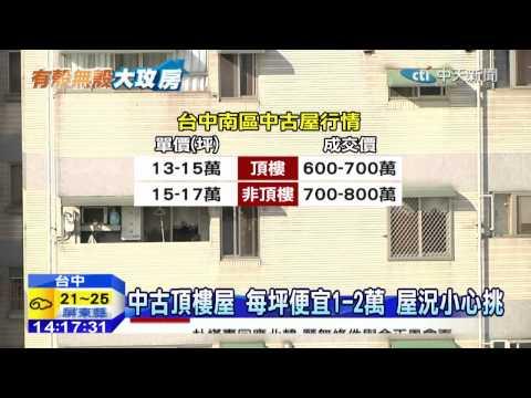 20150112中天新聞 中古「頂樓屋」卡俗! 小心漏水問題