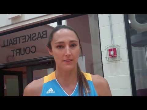 Center Ruth Riley at Chicago Sky media day 2013