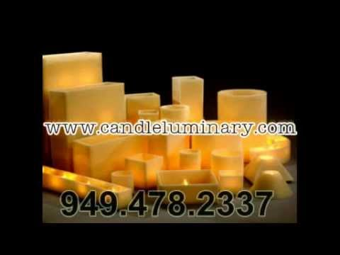 Candle Luminaries - Hollow Wax Candles - Hurricane Candles