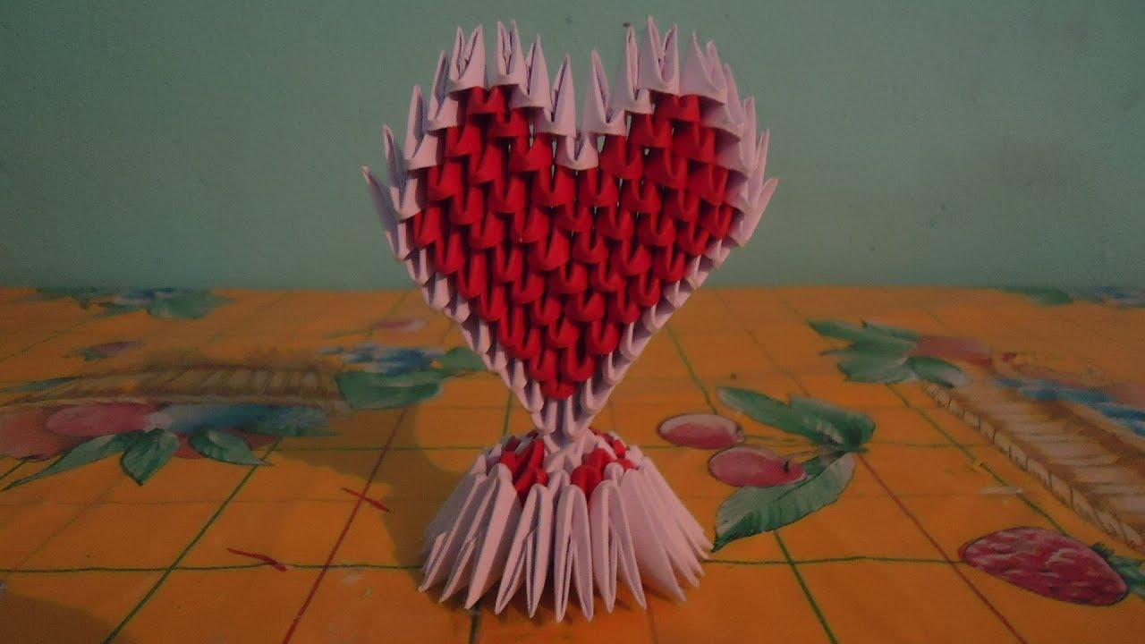 Como hacer un corazon de origami 3d youtube - Como hacer un corazon con fotos ...