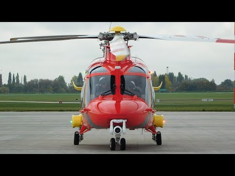 ✈ CLOSE Essex & Herts Air Ambulance Augusta Westland AW169 Start Up At London Southend Airport