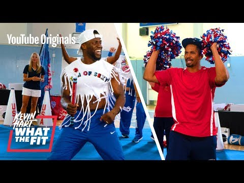 Cheerleading With Damon Wayans Jr. And Kevin Hart