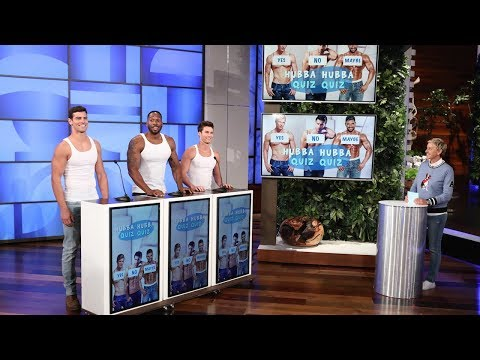 Ellen Challenges More Hotties in Hubba Hubba Quiz Quiz
