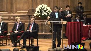 Rafael Correa - Sorbonne Paris Part.1 - LATINOA TV