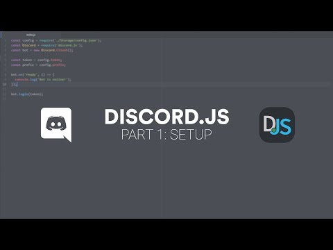 Discord.js Bot Tutorial | Part 1: Setup thumbnail