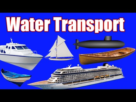 Water Transport   Mode of Transport   types of transport   transport name   names of Transport