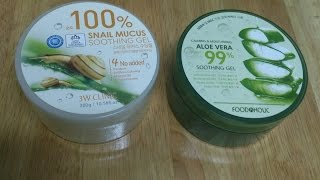 Aloe vera Gel / Snail Mucus Soothing Gel unboxing