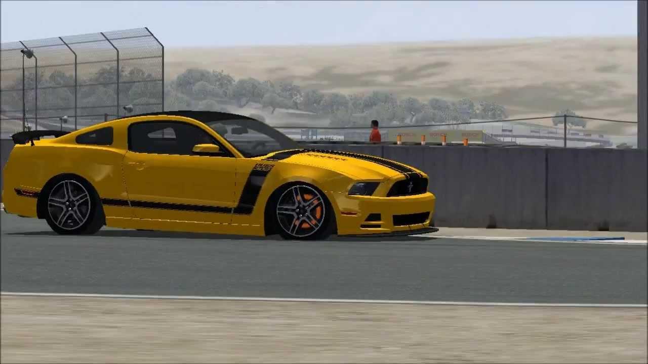 rFactor 2012 Mustang Boss 302 - YouTube