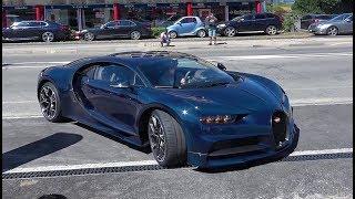 Bugatti Chiron MASSIVE Acceleration & Start Up in street! LOUD SOUND