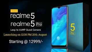 Realme 5 Pro - Realme 5 & 5 Pro | 48 MP Quad Camera, SD 712, Coming on 20th August, Price & Specs