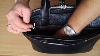 Malgrado BR09-321C1538 black, обзор портфеля, мужской сумки