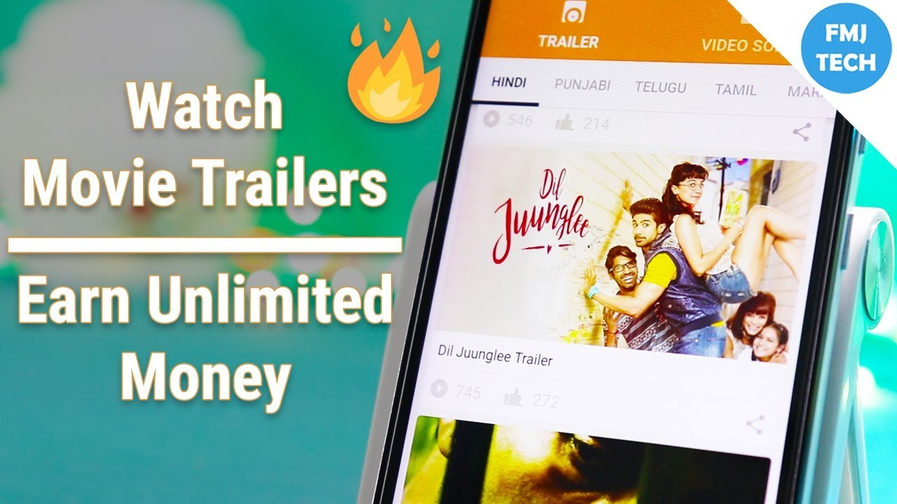 Earn Unlimited Money By Watching Latest Movie Trailers! ????