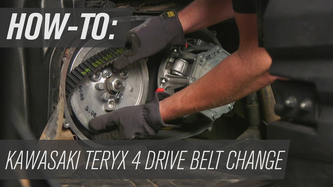 medium resolution of how to change the belt on a kawasaki teryx4