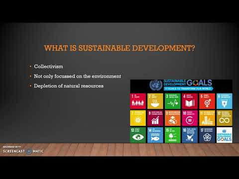 BE&S2018 IBMS-2E Sustainable development