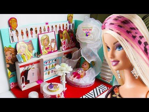 DIY Кукольный Домик своими руками из картона для Барби. Мини румбокс для дочки
