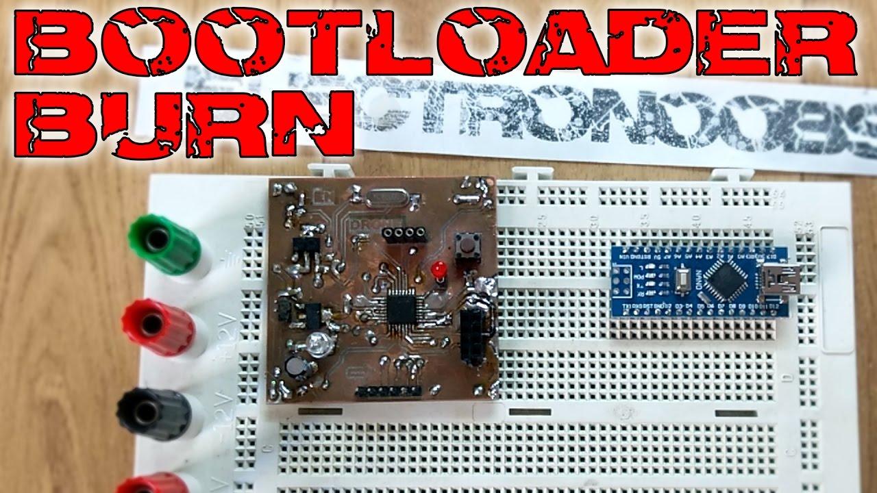 Burn bootloader to ATmega328p AU with Arduino NANO