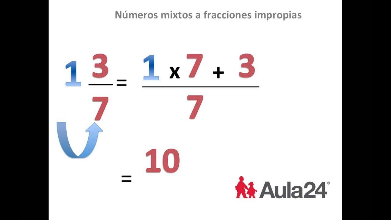 Lujo Números Mixtos A Fracciones Impropias Hoja De Trabajo ...