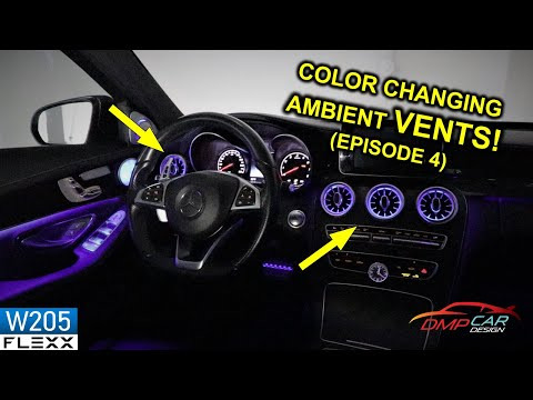 AMBIENT LED VENTS | How to install on 2015+ Mercedes W205 C-Class
