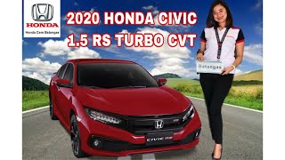 2020 Honda Civic RS Turbo Ignite Red New Color Review (Philippines)
