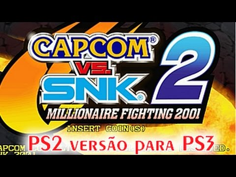Capcom vs snk 2 ps2 on ps3 gameplay demonstração youtube.
