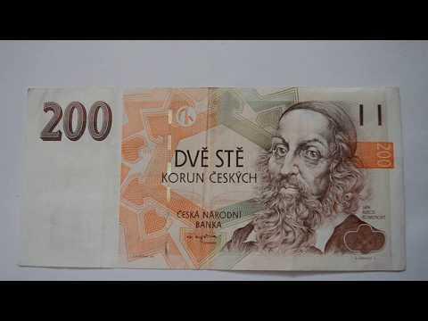 200 Czech Koruna Banknote - Two Hundred Czech Koruna 1998 bill