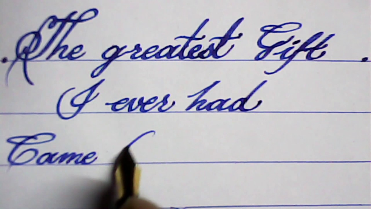Hand Writing With Fountain Pen Calligraphy Mazic