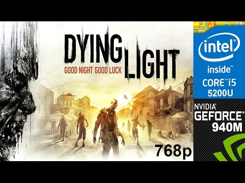Dying light on HP Pavilion 15-ab032TX, Medium Setting 768p, Core i5 5200u + Nvidia Geforce 940m