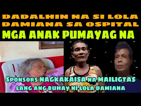 Mga sponsors ni lola damiana nag sanib pwersa na mailigtas lang ang buhay ni lola damie❤️ -  (2020)