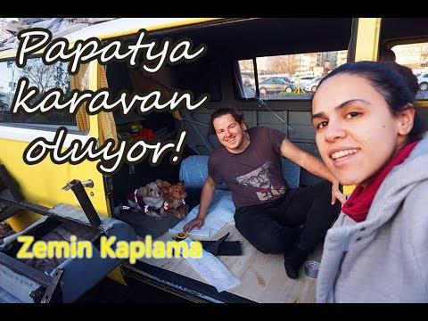 Papatya Karavan Oluyor 4. Bölüm - Zemin Kaplama / VW T2 Restoration Part 4 - Flooring