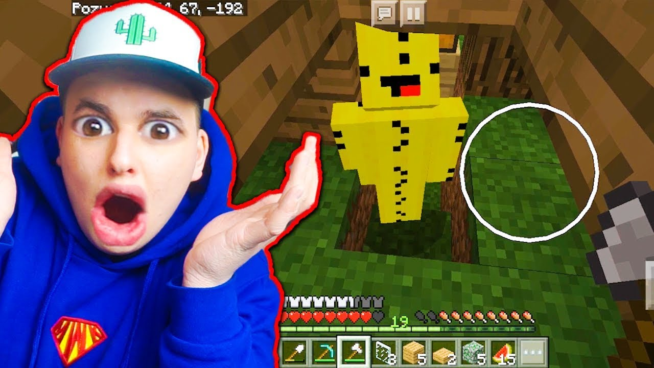 Minecraft na Telefon – UKRYWAŁ SIE W PIWNICY!!!! #12