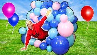 balloon box fort