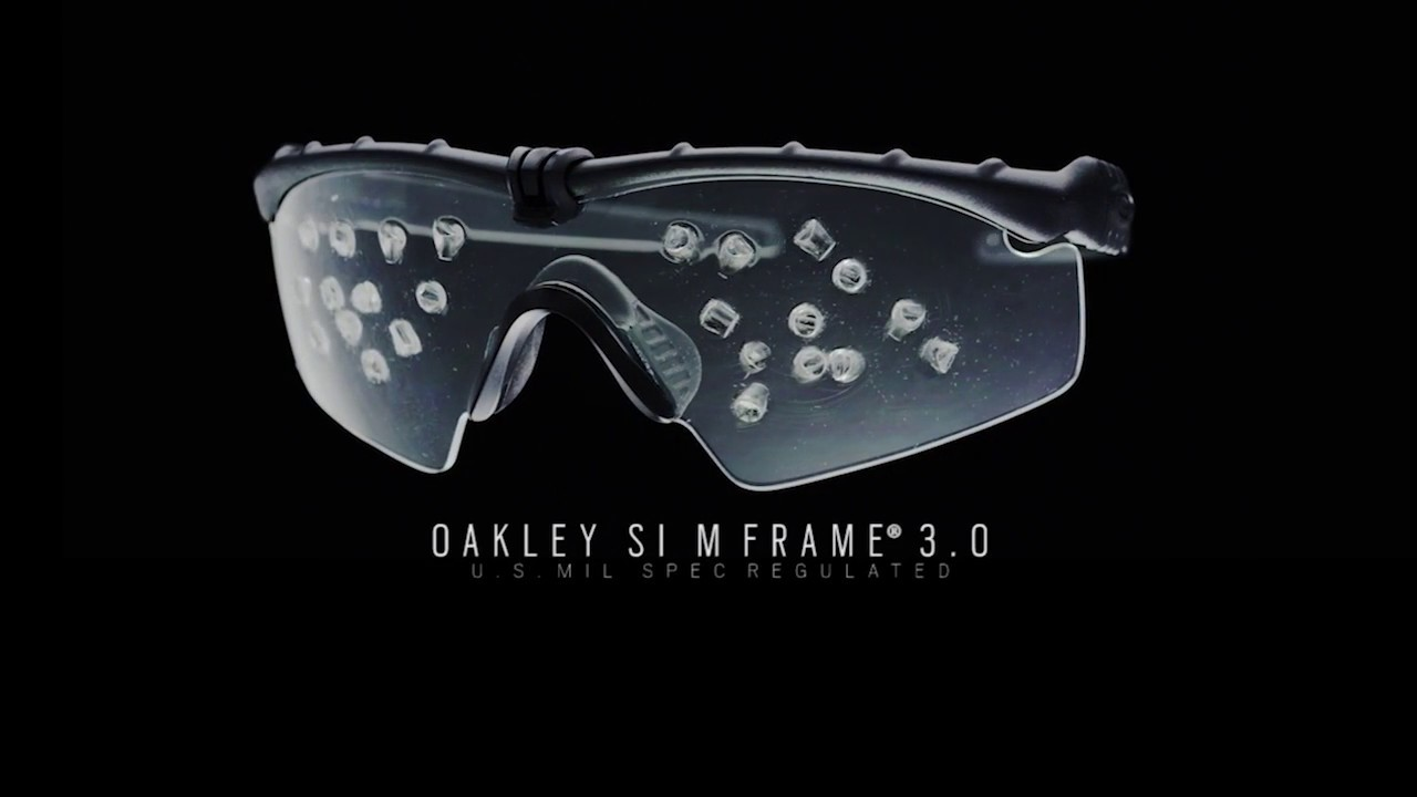 aeb7f429292 Tactical Solutions - Oakley Mframe US Military Impact test - YouTube