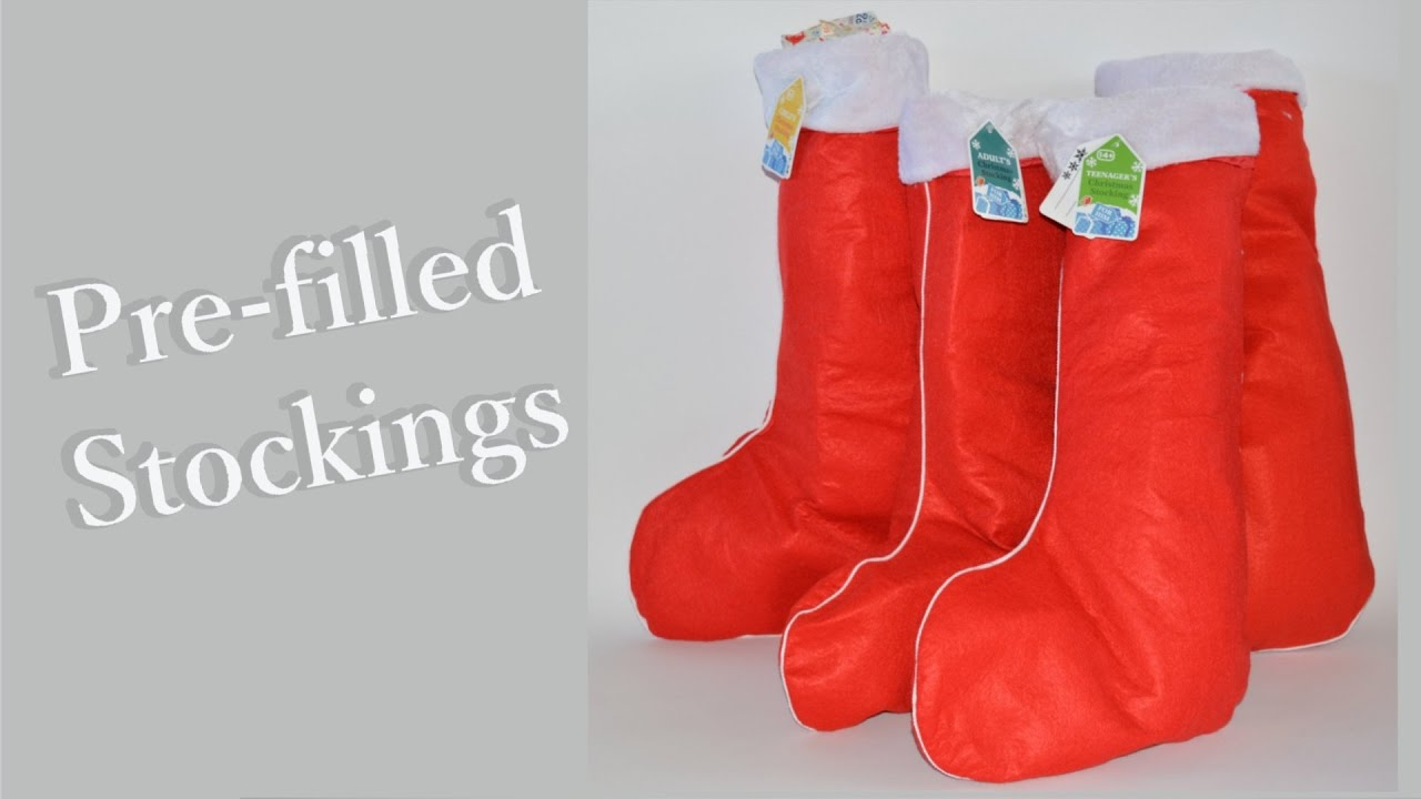 prefilled christmas stockings from hawkins bazaar ad - Pre Filled Christmas Stockings