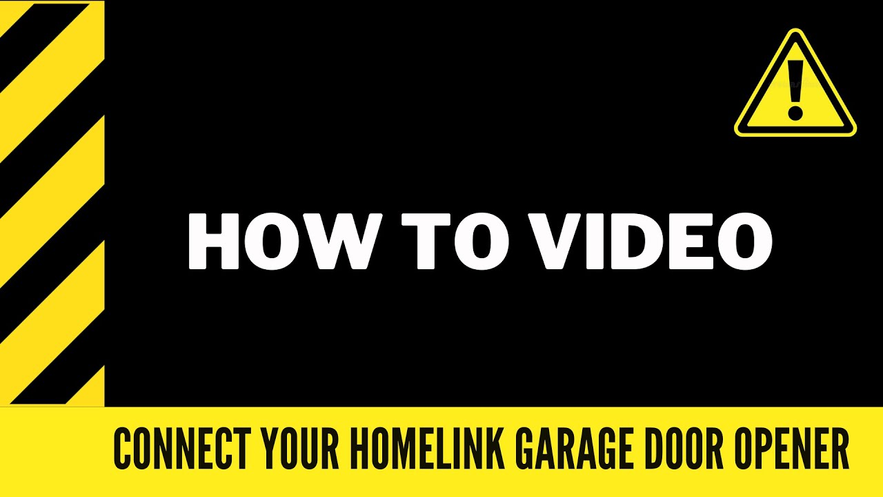 Connect Your Toyota To A Garage Door Opener Using The