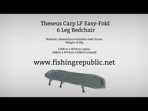 Theseus Lay Flat 6 Leg Easy Fold Bed Chair