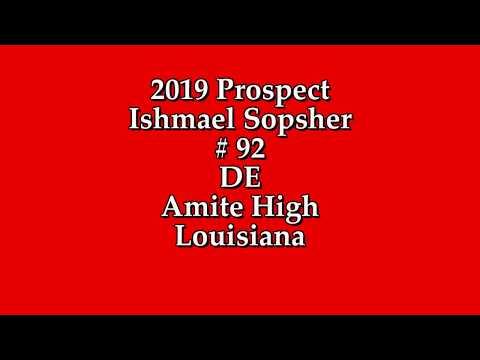 Ishmael Sophsher Class 2019 DE - Amite High School Louisiana
