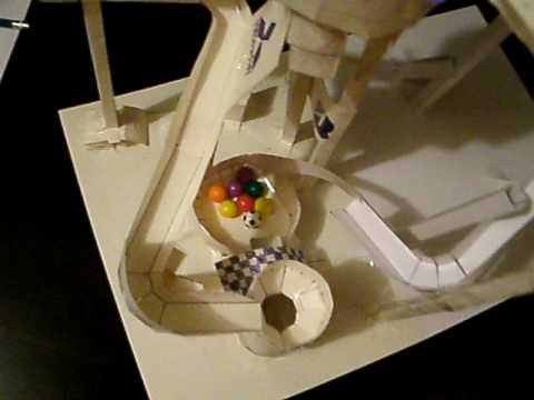 Updated Marble Paper Roller Coaster Youtube