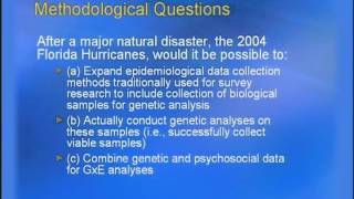 Part 08: Factors to Consider in Natural Disasters and Terrorism Studies