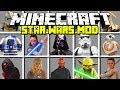 Minecraft STAR WARS MOD! | DARTH VADER, REY, KYLO REN, BB8, RD-D2 & MORE! | Modded Mini-Game