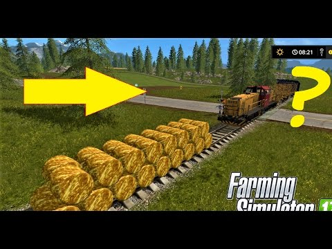 Farming Simulator 17 -Round Gold Bales Vs +250 KMH Train