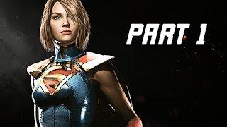 INJUSTICE 2 Walkthrough Part 1 - Chapter 1 GODFALL - Kara & Batman (Story Mode Let