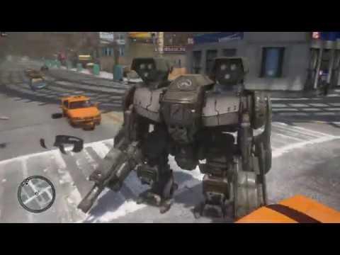 Enhancer Power Armor мод для GTA 4 | Робот