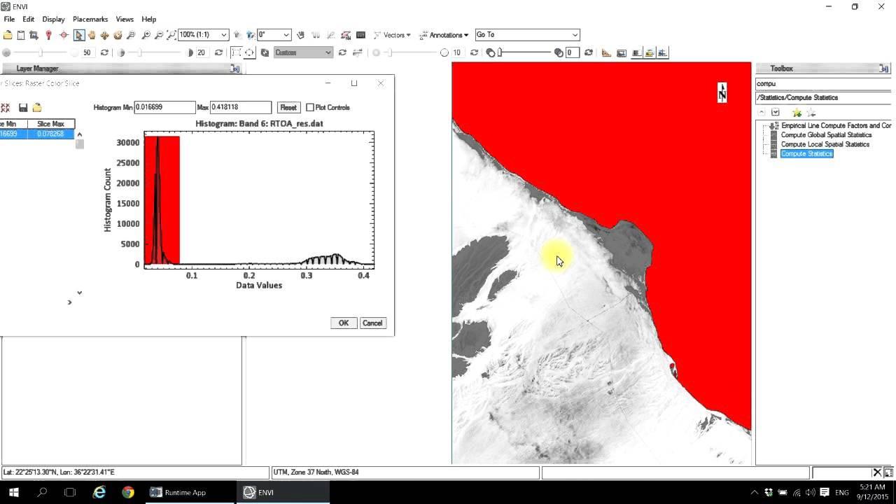 shoreline Delinearion Using Landsat Data
