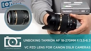TAMRON AF 18-270mm f 3 5-6 3 Di II VC PZD Lens for CANON DSLR Cameras REVIEW