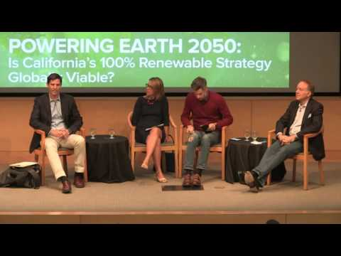 POWERING EARTH 2050: Is California's 100% Renewable Strategy Globally Viable?