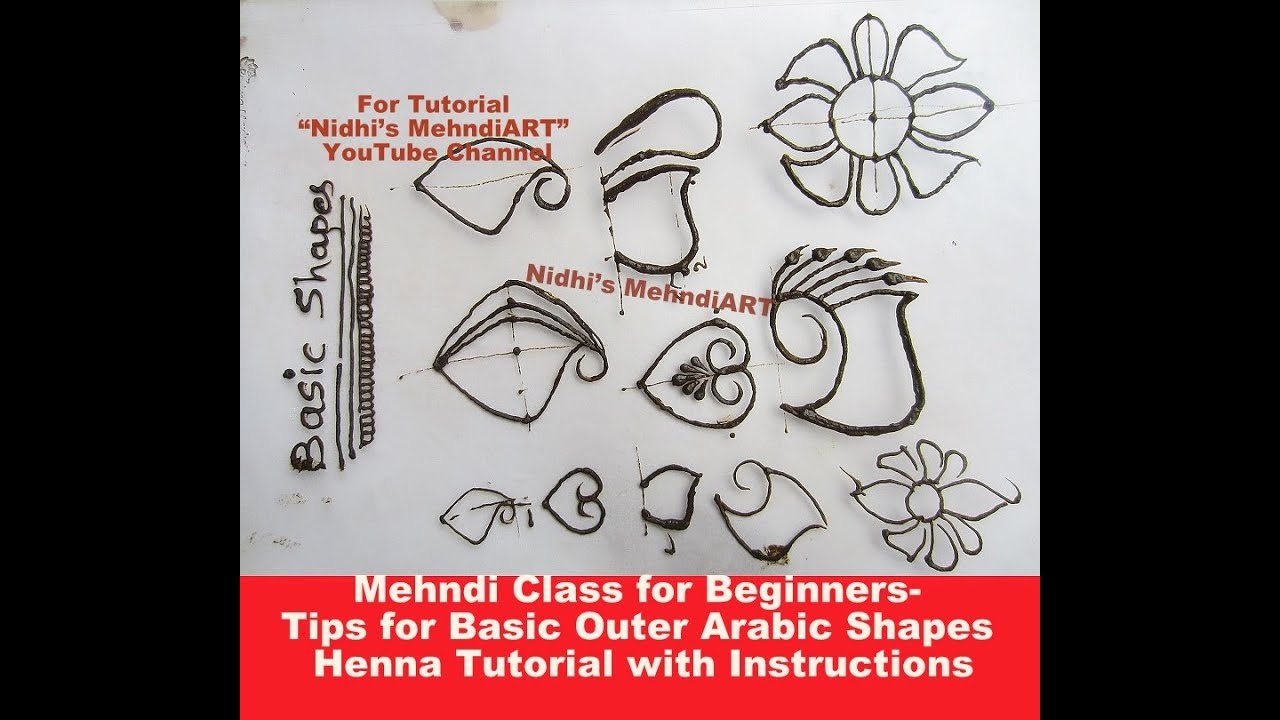 Mehndi Class for Beginners- Tips for Basic Outer Arabic Shapes Henna ...
