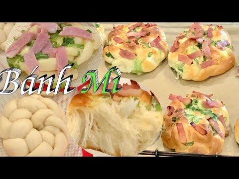 Cách Làm Bánh Mì Thịt Ham Và Hành Đơn Giản Nhất Mềm Xốp Và Rất Ngon - Ham & Scallion Bread Rolls